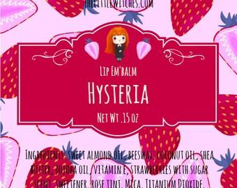"Lip Em'Balm ""Hysteria"" Strawberries with Sugar Scent"