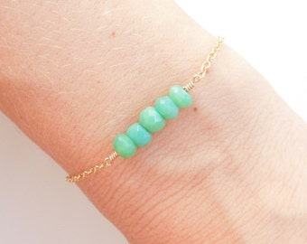 Chrysoprase Layering Bracelet in Gold