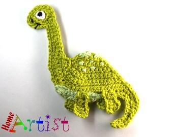 Crochet Applique Dino Dinosaur