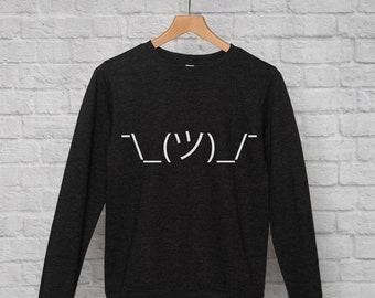 Shruggie *emoticon* sweatshirt // hipster sweatshirt / hipster clothing / funny sweatshirt / emoticon / smiley / sarcasm sweatshirt / jumper