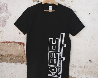 T-shirt man serigraphied 100% cotton : Babbayo ! / 바빠요 ! /Typography/ Hangul/ 한글/ Korea/ 한국