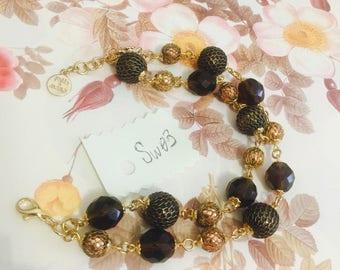 Swarovski Hand made crystal bracelet Rosa Piemonta