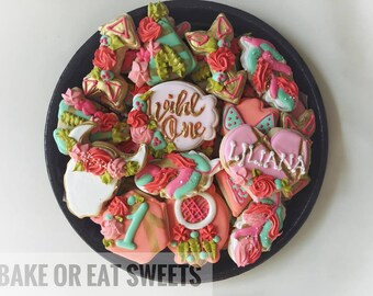 LOCAL ONLY Wild one Cookies