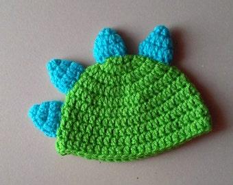 Dinosaur Crochet Hat, Photo Prop