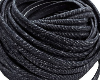 """15MM Denim Cord with 2MM Groove - High Quality European Cord - Qty. 8""""/20cm"""
