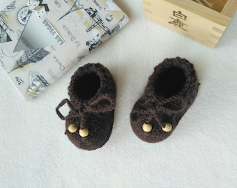 knitted booties for baby boy