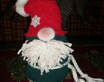 Red & Green Plush Gnome Doll Christmas Decoration