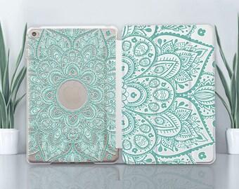 Mandala iPad 5 Case Clear iPad 10.5 Case iPad Mini 4 Case iPad 2 Case Ornament iPad Air Case iPad Pro 9.7 Case iPad 12.9 Case iPad 3 CZ4003