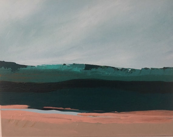 Original Abstract Pink Seascape