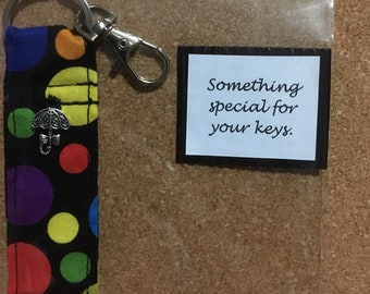 Soft Material Keyring - Coloured Spots