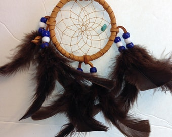 Blue and White Cherokee Dream Catcher