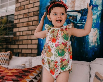 Girls romper - baby romper - romper for toddler girls - baby girls flutter sleeve romper - girls spring romper - spring romper for baby girl