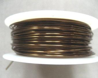 26 gauge Vintage Bronze Viking Knit Crochet Wire 45 ft