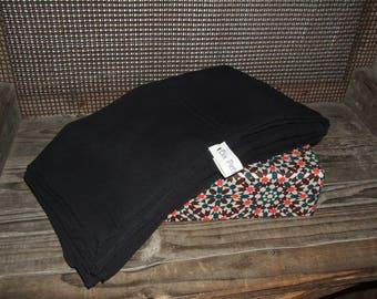 Black chiffon scarf