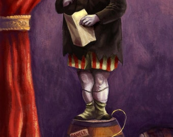 Uncle Fester Addams- The Addams Family Haunted Mansion Stretch Portaits