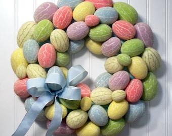 Happy Easter Egg Wreath