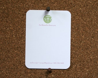 I'm blessed to know you custom Stationery with cafe scene: Designed and Printed with Matching Envelopes