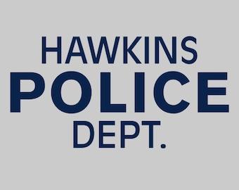 Hawkins Police Dept. -  Stranger Things Men's Unisex T-Shirt - Sci-Fi Geek TV Parody Clothing