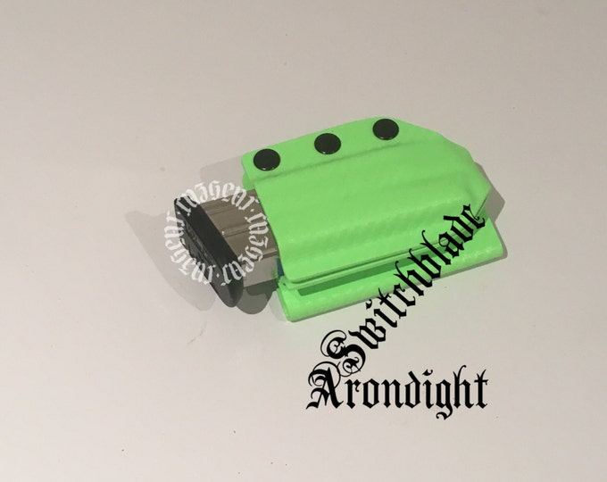 Arondight Switchblade Double Stack Horizontal Mag Carrier in Zombie Green