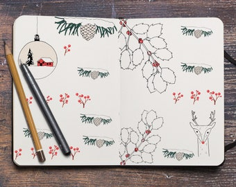 Quiet Christmas December Bujo stickers stickers
