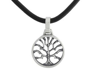 925 Tree of Life Pendant with Leather Necklace