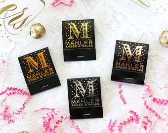 Wedding Matches Personalized Matches Foil Stamped Matches Custom Matchbooks Wedding Match Boxes Monogram Matches Wedding Favors for Guests