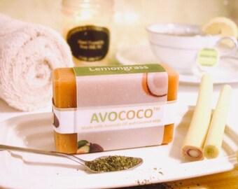 Green Tea Soap, Natural Soap, Tea Soaps, Vegan Soap, Bath Soap, Aromatherapy, Lemongrass Soap, Green Tea, Spa Soap, Handmade Soap,