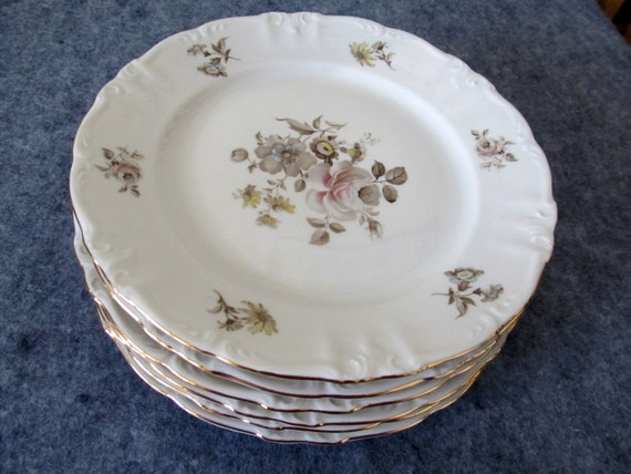 Six Dinner Plates Empress Maria Theresia Winterling
