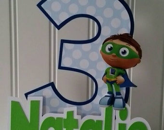 Super why toppers Etsy