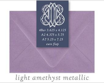 Light Amethyst | 10 Blank Euro Envelopes | A7 • A2 • RSVP
