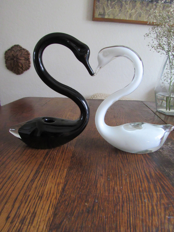 Vintage vase glass vase swan vase midcentury glass midcentury zoom floridaeventfo Choice Image