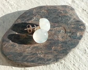 Moonstone on silver studs