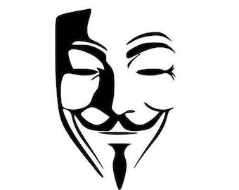 Guy Fawkes V for Vendetta Logo Vinyl Decal Sticker