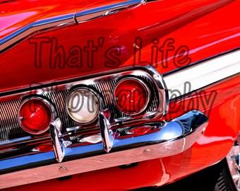 "1960 Impala Chevy Chevrolet Original Photography Art 16"" x 20"" Image"