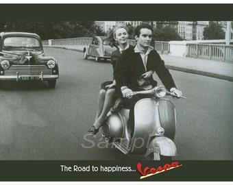 Vintage Vespa Advertising Poster Print