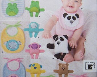 Already reduced - see shop announcement for 60%off code - Bibs & Stuffed Animals - Baby Accessories - Simplicity 1904 Pattern - UNCUT