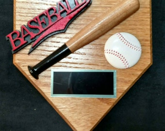 Baseball wall plaque