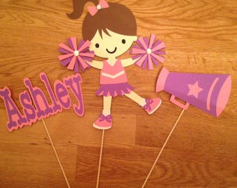 Cheerleader centerpieces,Cheerleader birthday party,Girls birthday party,Birthday party,Birthday centerpieces,Cheerleader theme birthday