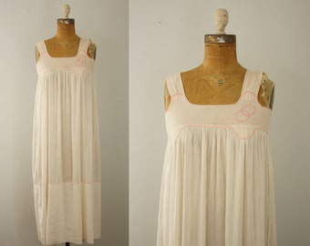 1920s night gown | vintage 20s pink gown