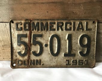 Vintage Connecticut license plate, vintage license plate, vintage commercial license plate