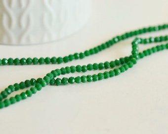 Green beads, beaded jewelry, green Crystal bead, creative supply, facet, 150 thread glass bead, 3mm