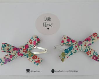 Liberty of London Clarisse Snap Hair Clip Duo Baby Girl Birthday Easter Gift
