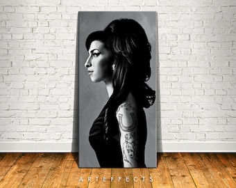 Amy Winehouse Canvas High Quality Giclee Print Wall Decor Art Poster Artwork