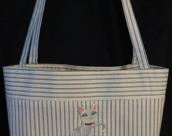 Cat tote bag or market bag
