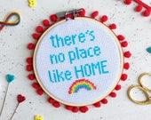 craft kit, modern, home decor, cross stitch pattern, kitsch, Cross Stitch, rainbow, needlepoint, cross stitch, gifts for mum, mothers day