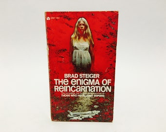 Vintage Occult Book The Enigma of Reincarnation by Brad Steiger 1973 Paperback