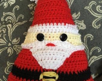 Crocheted Santa Pillow