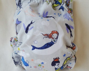 Twilight Mermaids Pocket Diaper