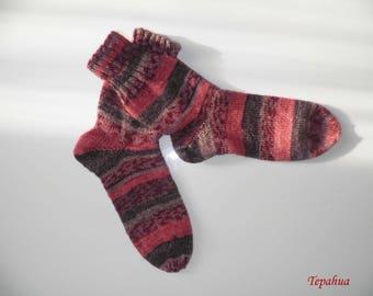 Adult wool socks, low socks, handmade socks, knitting socks, adult socks, winter accessories, handknitting socks