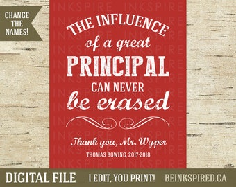 Teacher Gift, Teacher Appreciation, Principal Gift, Gift for Principal, Personalized Vice Assistant Principal Print Gift, DIGITAL FILE
